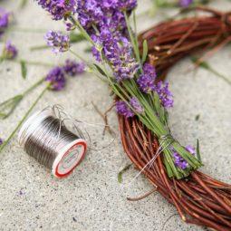 Adding lavender to a wreath form.jpg