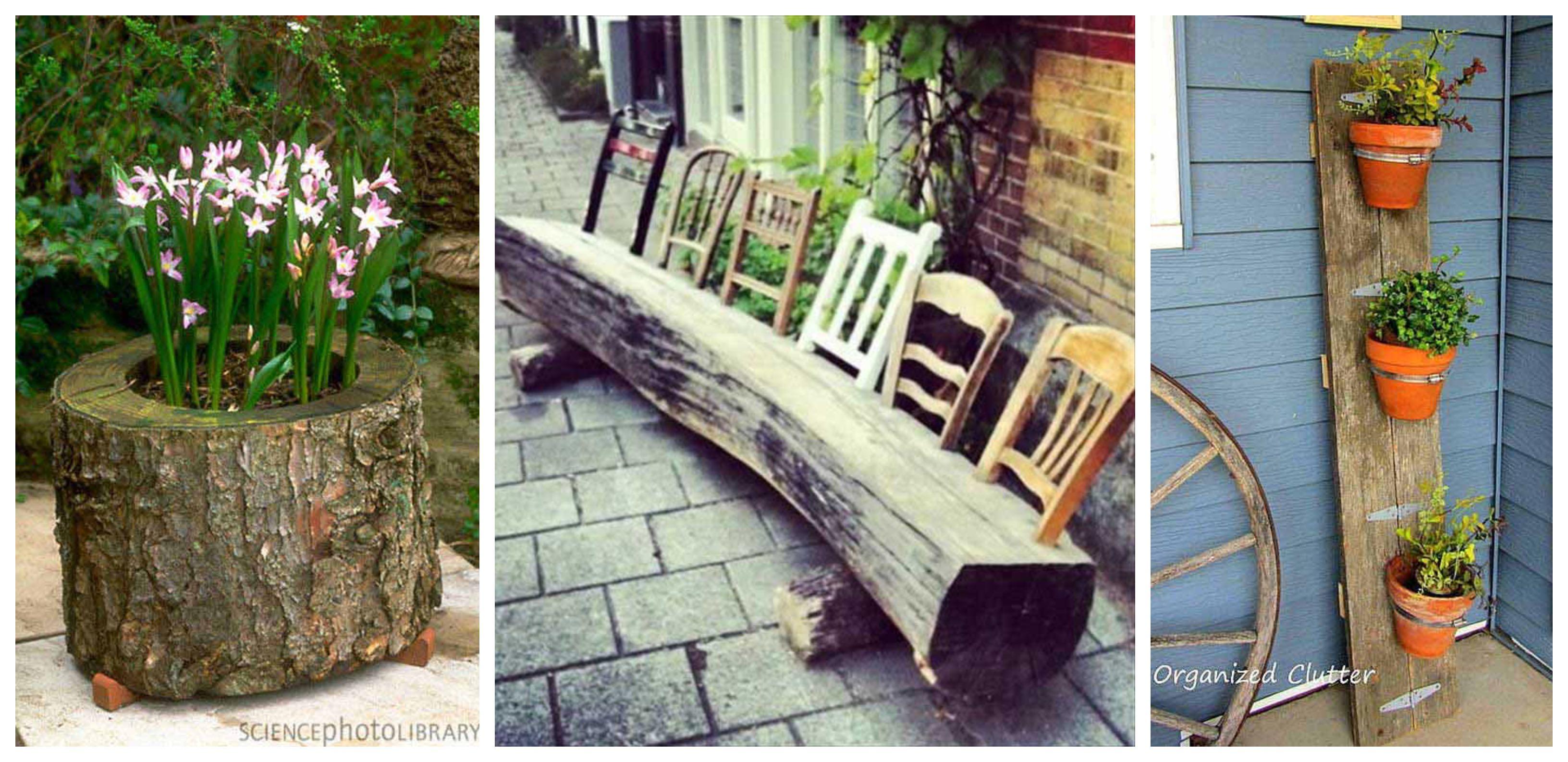 20 Ideen für einzigartige Gartendeko aus Holz    nettetipps.de