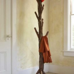 Diy tree coat rack storage organization 2.jpg