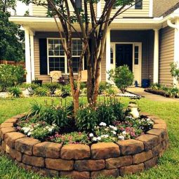 Brick built flower bed around tree.jpg