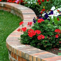 Brick flower bed edging idea.jpg